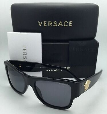 Polarized VERSACE Sunglasses VE 4275 GB1/81 58-18 140 Black Frames w/Grey Lenses