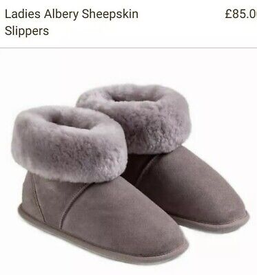 JUST SHEEPSKIN Ladies Albury Mink Slipper Boots Large 7/8  BNWB