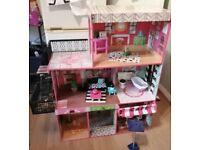 Wooden Dolls house kidkraft Brooklyn's