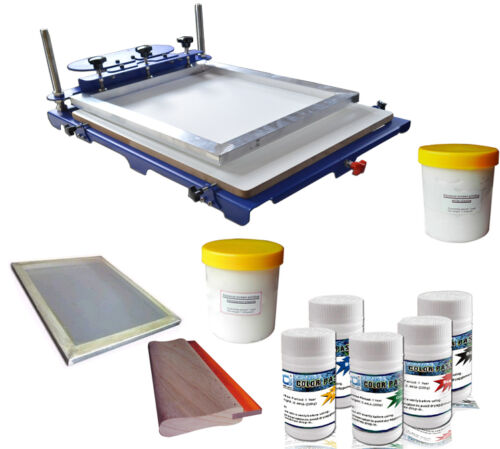 1 Color Screen Printing Kit Oversize Press Printer & Start Hobby Ink Materials