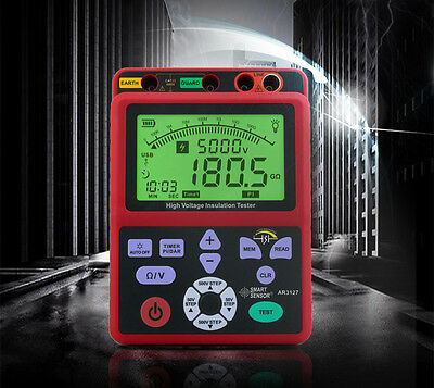 High Voltage 5kv Insulation Resistance Tester Meter Megger 1t Ohm Pi Dar Usb