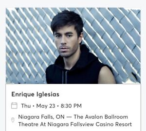 4 Balcony Tix for Enrique Iglesias on May 23/19 BR3 Row 2