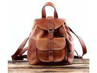 PAUL MARIUS Vintage leather backpack LE BAROUDEUR rucksack vintage style