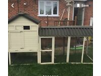 Chicken coop and 2 laying hens