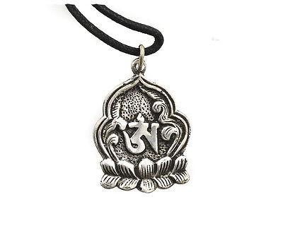 Colgante Flor Lotus Om Budismo Tibetano de Metal Peterandclo 7543