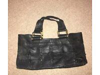 Dune patchwork leather handbag