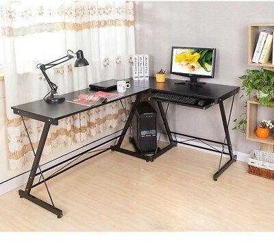Computertisch Eckschreibtisch PC Tisch Schreibtisch Bürotisch Ecktisch Schwarz