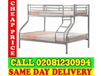 Amazing Offer single top double bottom trio sleeper metal bunk base (Base) Bedding Kenton