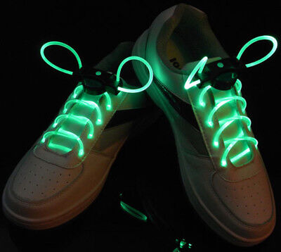 LED SHOE LACES HALLOWEEN PARTY COSTUME FUN RAVE FLASHING EL FESTIVAL DANCE USA - Halloween Festival Usa