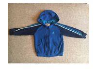 Boys Adidas Tracksuit Top Jumper 3-4 Years hoodie