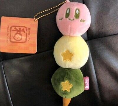 "New 6"" Nintendo Game Kirby Plush Toy Sitting Pose Soft Sakura Dango Mochi Japan"