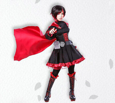 Cool Anime Outfits (Anime RWBY Crescent Ruby Rose Cosplay Costume Clothing Red Dress Outfit)
