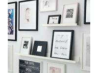 *brand new* IKEA mosslanda white picture ledge