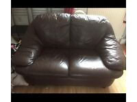 2 and 3 seater leather sofa. Can deliver