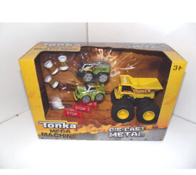 Brand new Tonka mega machine car truck play set 3+