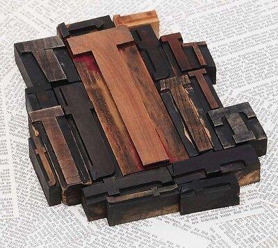 Ttttt Mixed Set Of Letterpress Wood Printing Blocks Type Woodtype Wooden Printer