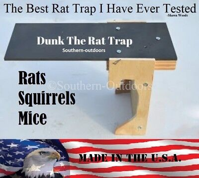 Original Dunk The Rat Trap   Rat   Squirrel Barn Trap   Auto Reset   Usa Made
