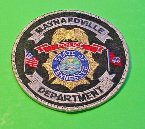 "MAYNARDVILLE  TENNESSEE  TN  4""  POLICE PATCH  FREE SHIPPING!!!"
