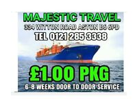 Sea Cargo to Pakistan only £1 per kg