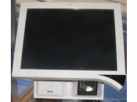 White DUAL core atom as new Epos till built in barcode scanner drawer & software 5 million barcodes