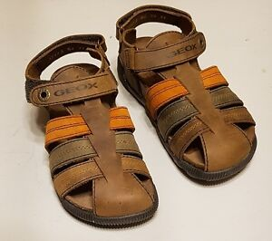 New GEOX leather boys closed toe sandals, size 1.5