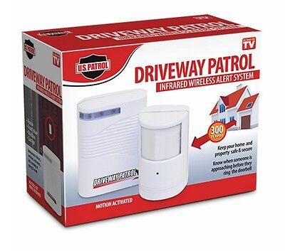 Driveway Patrol Garage Motion Sensor Alarm Security System Wireless Alert  New
