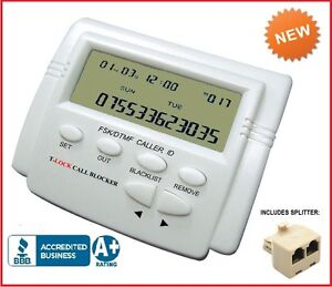 INCOMING CALL BLOCKER w/LCD DISPLAY & LARGE CAPACITY (BLOCK 1,500 PHONE NUMBERS)