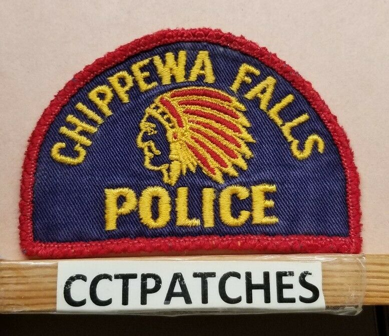 CHIPPEWA FALLS, WISCONSIN POLICE SHOULDER PATCH WI