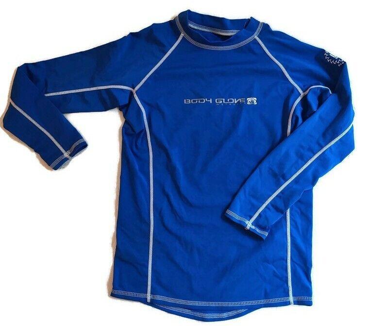 Body Glove Kids Size 10 Long Sleeve Rash UV Guard Electric Blue