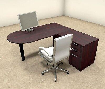 3pc L Shaped Modern Executive Office Desk Ot-sul-l19