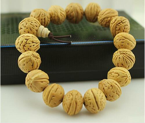 Big 13 15mm Old Phoenix Eye Bodhi Seed Meditation Prayer Beads Mala Bracelet