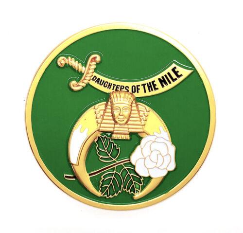 "Daughters of the Nile car emblem 3 1/4"" peel & stick # CDOFN"