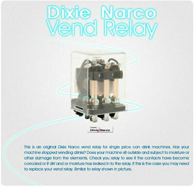 Dixie Narco Soda Machine -vend Relay For Single Price Machines