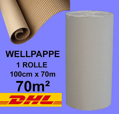 1 ROLLE 100 cm BREITE x 70 lfm  WELLPAPPE ROLLENWELLPAPPE Welle C #WP0043