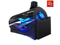 COMERCIAL SUNBED ERGOLINE 600 AVANTGARDE NEW MODEL ,BREEZE - MIST, AUDIO ,MP-3, LED