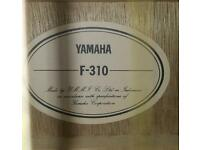 Yamaha right handed acoustic guitar
