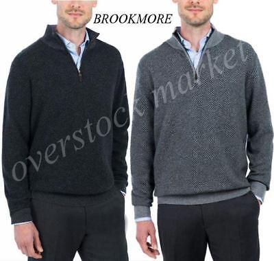 New Mens Cashmere Sweater - NEW! MENS BROOKMORE 1/4 ZIP CASHMERE SWEATER! 100% CASHMERE! VARIETY COLOR/SIZE