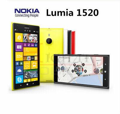 Original Unlocked Nokia Lumia 1520 mobile Phone 20.0MP 6.0 inch TouchScreen Quad