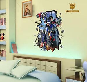 Transformers-3D-image-home-Decor-Removable-Wall-Sticker-Decal-Decoration