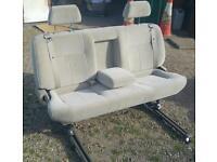 Sliding triple 3 seat camper van bench. Folding Table, Bed. VW T4 T5 Caddy Transit Sprinter Trafic
