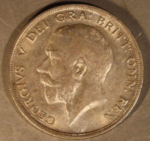 1915 Great Britain Half Crown Silver High Grade      ** FREE U.S SHIPPING **