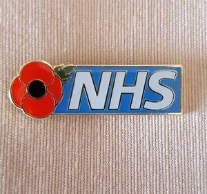 POPPY PIN BADGE - NHS, NURSE, DOCTOR, PORTER, CARER. PHYSIO, OT, HCA, CLEANER