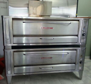 Double deck Blodgett pizza ovens 1060 series