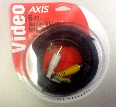 Axis 6-ft Audio/Video Cable Interchanging Gold Series New In Sealed Packaging