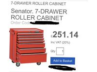 7 draw roller cabinet