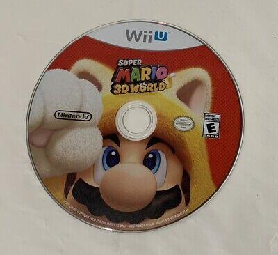 Super Mario 3D World (Nintendo Wii U, 2013) - Disc Only