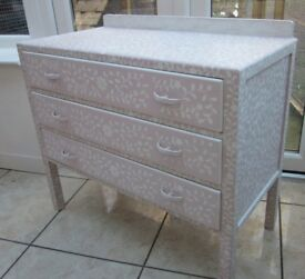 Chest of drawers, hand painted and stencilled