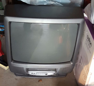 Old style Television with built in vcr tape player