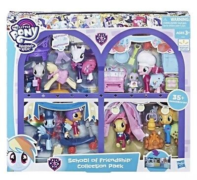 Little Accessories Collection - My little pony school of friendship collection Toy pack 8 Figures 37 Accessories