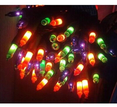Mardi GrasSTRING LIGHTS Multicolor Black Wire Orange Green Purple Halloween Part](Purple Halloween Lights)